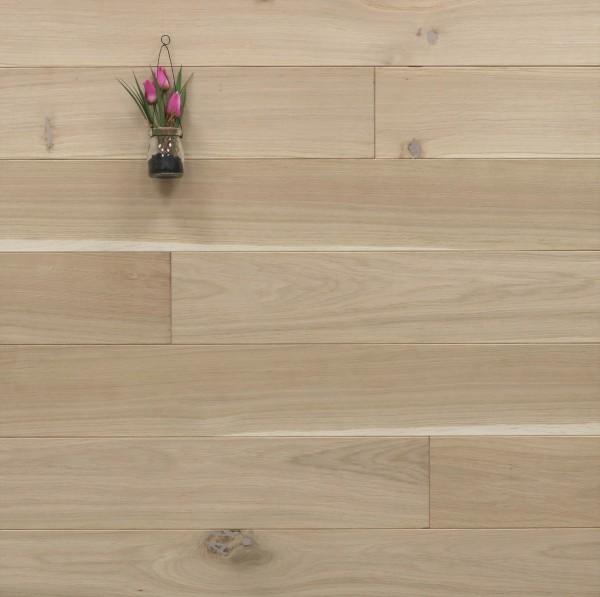 Massivholzdielen Eiche, 20 x 140 mm, Langdielen von 1800 bis 2200 mm, optional in Fixlänge, roh bzw. unbehandelte Oberfläche, Kanten gefast, Nut / Feder Verbindung, Sonderanfertigung nach Kundenwunsch