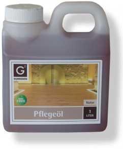 Gunreben Pflegeöl natur, zur Ersteinpflege geölter Holzböden, Kanister mit 1,0 Liter