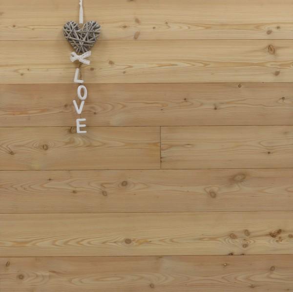 Massivholzdielen Lärche, Markant, 20 x 135 mm, Länge 2950 oder 3950 mm, Kanten gefast, Nut / Feder Verbindung
