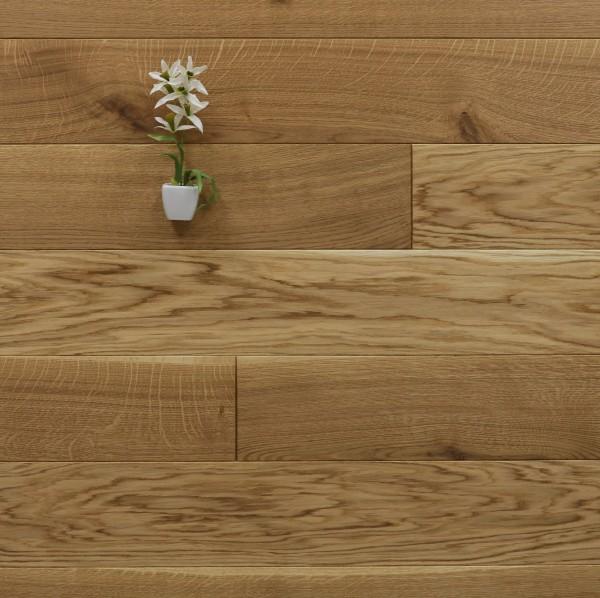 Restposten Massivholzdielen Eiche geölt, 20 x 160 mm, Systemlängen von 600 bis 2200 mm, Kanten gefast, Nut / Feder Verbindung