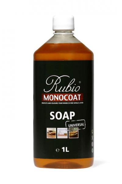 Bodenseife Rubio Monocoat Soap, zur regelmäßigen Reinigung geölter Holzböden, Flasche mit 1,0 Liter