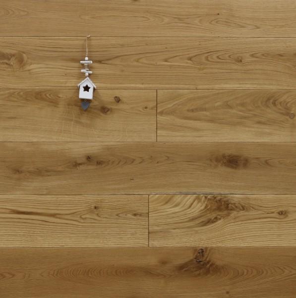 Massivholzdielen Eiche, mit Osmo Hartwachsöl 5261 geölt, Langdielen, optional in Fixlänge, Kanten gefast, Nut / Feder Verbindung, Sonderanfertigung nach Kundenwunsch