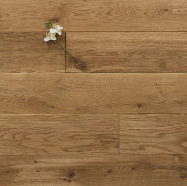 Massivholzdielen Eiche, 20 x 180 / 200 mm, Schlossdielen von 1800 bis 5100 mm, mit einem Naturöl geölt, Kanten gefast, Nut / Feder Verbindung, Sonderanfertigung nach Kundenwunsch