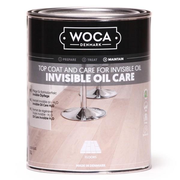 WOCA No1 Invisible Öl Care, zur Ersteinpflege von Eiche Dielen in Rohholzoptik, Kanister mit 1 Liter