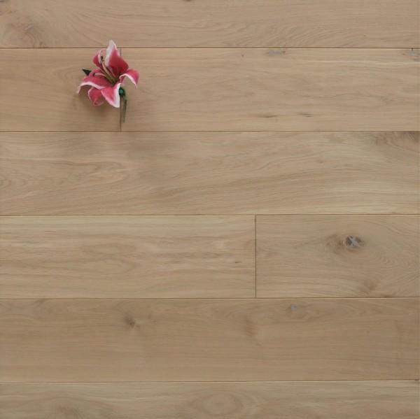 Massivholzdielen Eiche, 20 x 180 mm, Langdielen von 1800 bis 2200 mm, optional in Fixlänge, roh bzw. unbehandelte Oberfläche, Kanten gefast, Nut / Feder Verbindung, Sonderanfertigung nach Kundenwunsch