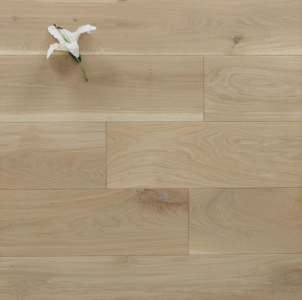 Eiche Massivholzdiele, 20 x 200 mm, Langdielen von 1800 bis 2200 mm, optional in Fixlänge, roh bzw. unbehandelte Oberfläche, Kanten gefast, Nut / Feder Verbindung, Sonderanfertigung nach Kundenwunsch