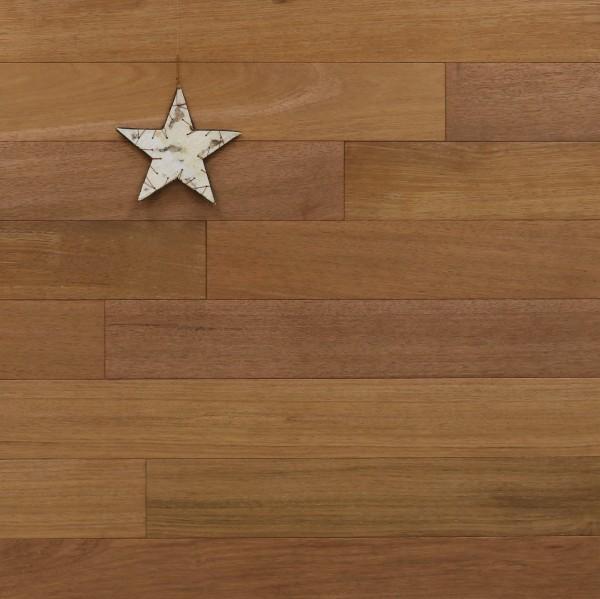 Massivholzdielen Merbau, Select, 15 x 120 mm, Systemlängen von 600 bis 2100 mm, Kanten gefast, Nut / Feder Verbindung
