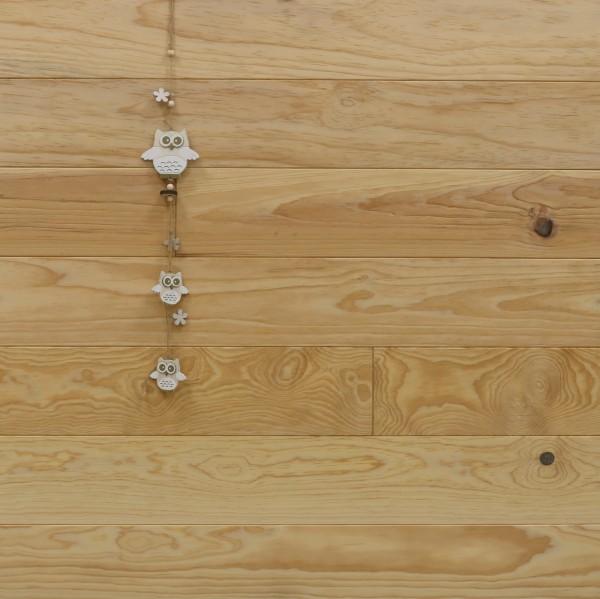 Massivholzdielen Pitch Pine, Natur, 20 x 135 mm, Längen von 2500 bis 6100 mm, optional in Fixlänge, Kanten gefast, Nut / Feder Verbindung