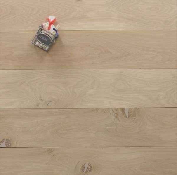 Massivholzdielen Eiche, 20 x 180 / 200 mm, Schlossdielen von 1800 bis 5100 mm, roh bzw. unbehandelte Oberfläche, Kanten gefast, Nut / Feder Verbindung