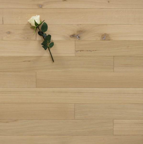 Massivholzdielen Eiche, 10 x 100 mm, Systemlängen von 400 bis 1200 mm, roh bzw. unbehandelte Oberfläche, Kanten gefast, Nut / Feder Verbindung, Sonderanfertigung nach Kundenwunsch