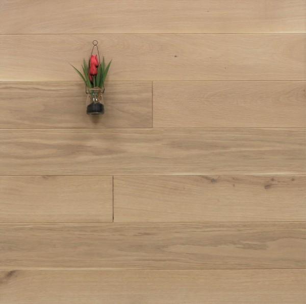 Massivholzdielen Eiche, 20 x 140 mm, Langdielen von 1800 bis 2200 mm, optional in Fixlänge, mit einem Naturöl weiß geölt, Kanten gefast, Nut / Feder Verbindung, Sonderanfertigung nach Kundenwunsch